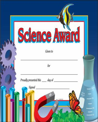Science Award Certificate Template Zaxa
