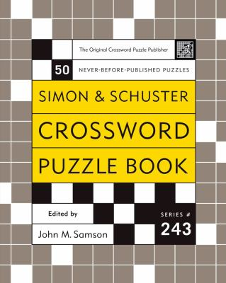 Simon & Schuster Crossword Puzzle Book 9780743251259