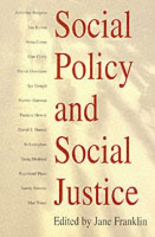 Social Policy and Social Justice 9780745619408