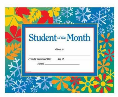 Student of the Month Award Certificate 9780742403314