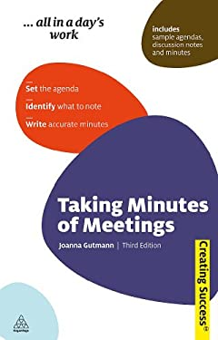Taking Minutes of Meetings 9780749460297