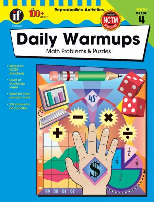 Daily Warmups, Grade 4: Math Problems & Puzzles