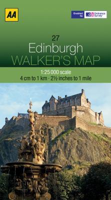 AA Edinburgh Walker's Map 9780749573188