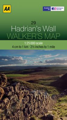 Walker's Map Hadrian's Wall 9780749573225