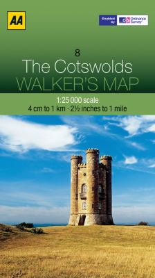 Walker's Map the Cotswolds 9780749573348