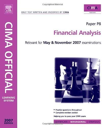 Cima Learning System 2007 Financial Analysis 9780750680486