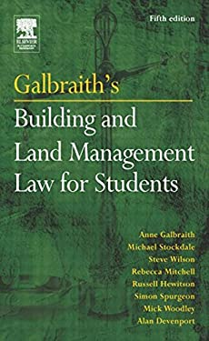 Galbraith's Building and Land Management Law for Students 9780750662239