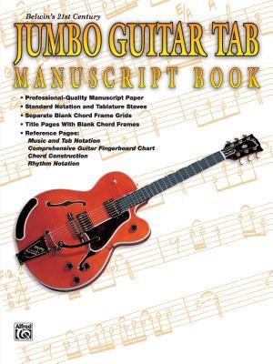 21st Century Jumbo Guitar Tab Manuscript Book 9780769292250