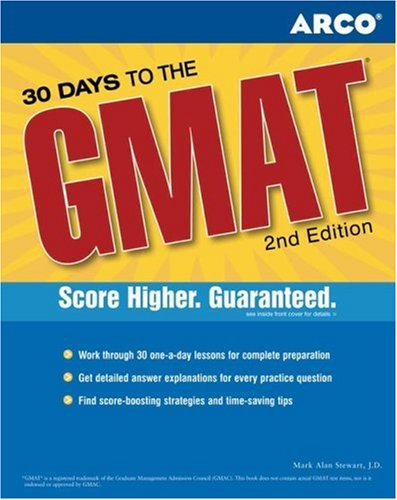 30 Days to the GMAT CAT 9780768906356