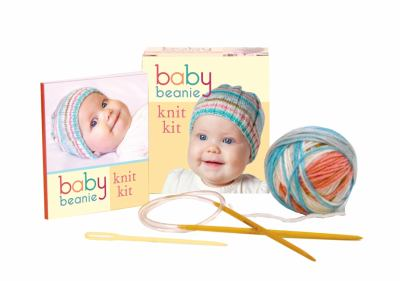 Baby Beanie Knit Kit [With Darning Needle, Circular Knitting Needles, Yarn and 32 Page Instruction Book] 9780762441143