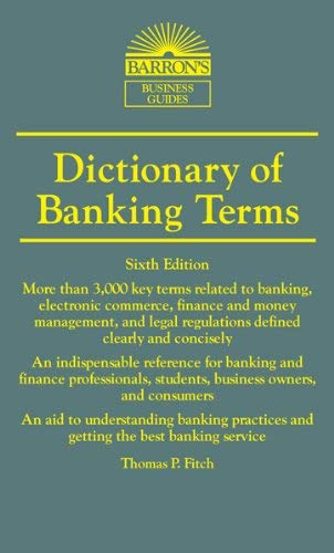Dictionary of Banking Terms 9780764147562