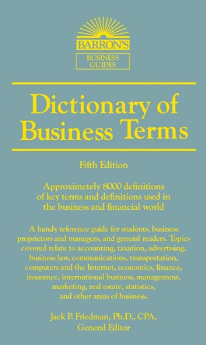Dictionary of Business and Economics Terms 9780764147579