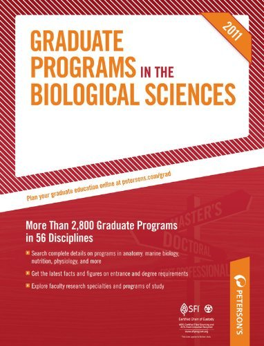 Graduate Programs in Biogoical Sciences 2011 9780768928549