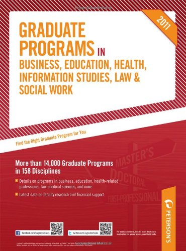 Graduate Programs in Business, Education, Health, Information Studies, Law & Social Work 9780768928570