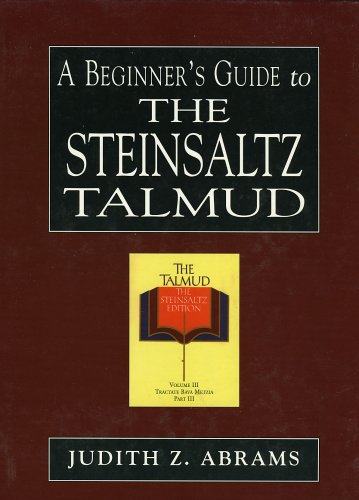 A Beginner's Guide to the Steinsaltz Talmud 9780765760470