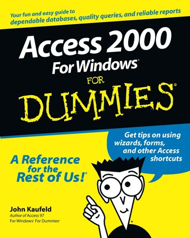 Access 2000 for Windows for Dummies 9780764504440