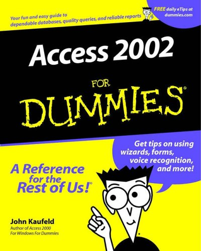 Access 2002 for Dummies 9780764508189