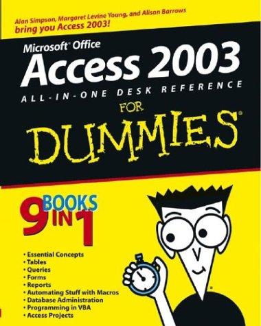 Access 2003 All-In-One Desk Reference for Dummies . 9780764539886