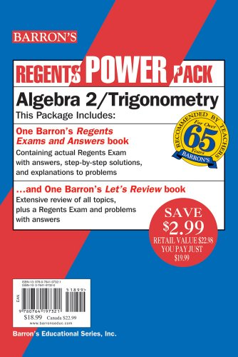 Barron's Regents Exams and Answers: Algebra 2/Trigonometry [With Let's Review: Algebra 2/Trigonometry] 9780764197321