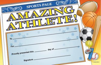 Amazing Athlete Certificate 9780768225655