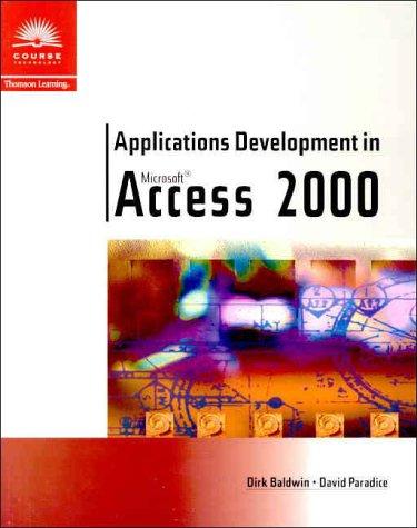 Applications Development in Microsoft Access 2000 9780760071083