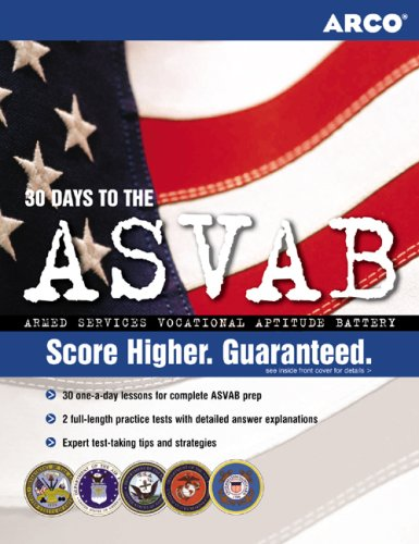 Arco 30 Days to the ASVAB 9780768912371