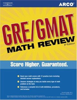 Arco GRE/GMAT Math Review 9780768918311