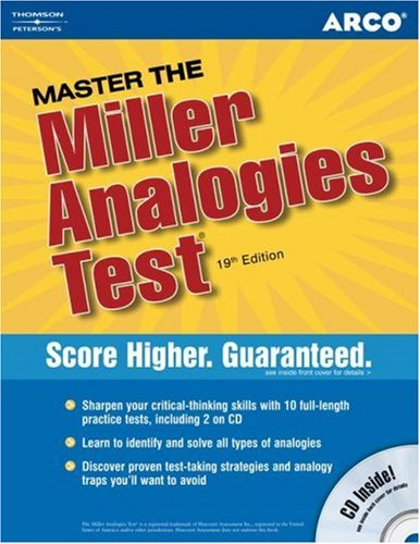Arco Master the Miller Analgies Test [With CDROM] 9780768923070