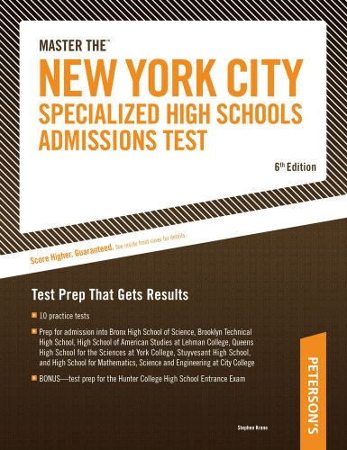 Arco Master the New York City Specialized High Schools Admissions Test 9780768923605