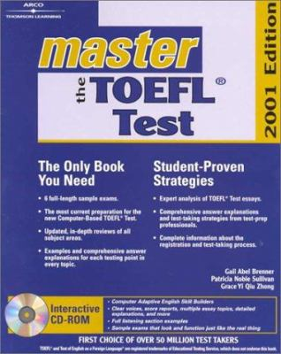 Arco Master the TOEFL 2001 W/CD [With CDROM] 9780764561467