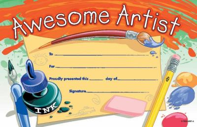 Awesome Artist Certificate 9780768225570