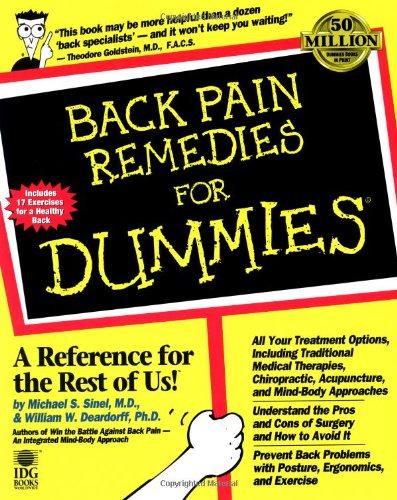 Back Pain Remedies for Dummies 9780764551321