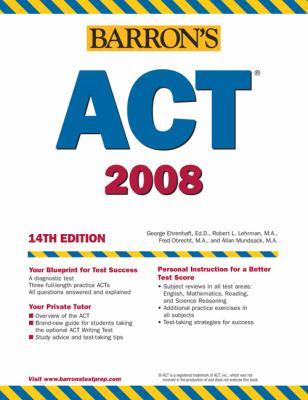 Barron's ACT, 2007-2008 9780764133664