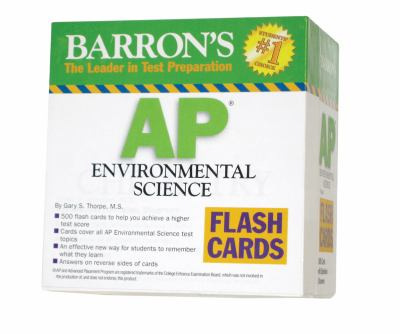 Barron's AP Environmental Science Flash Cards 9780764195990