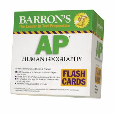 Barron's AP Human Geography Flash Cards 9780764195983