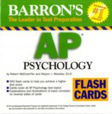 Barron's AP Psychology Flash Cards 9780764196133