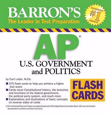 Barron's AP U.S. Government and Politics Flash Cards 9780764161216