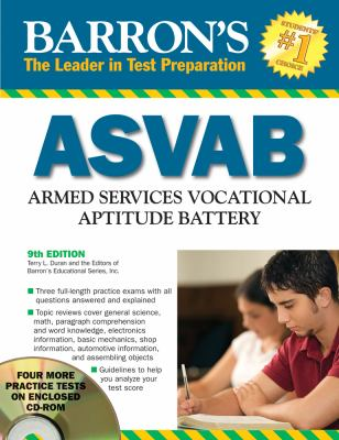 Barron's ASVAB [With CDROM] 9780764195464