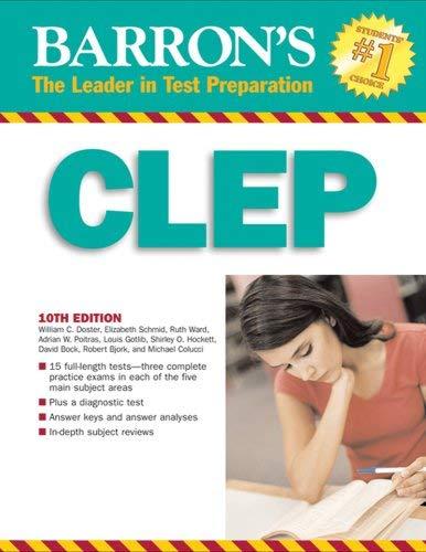 Barron's CLEP Barron's CLEP 9780764136399