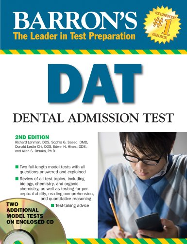 Barron's DAT: Dental Admissions Test [With CDROM] 9780764193842