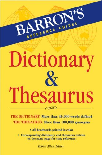 Barron's Dictionary & Thesaurus 9780764136061