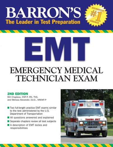 Barron's EMT Exam: Emergency Medical Technician 9780764139376