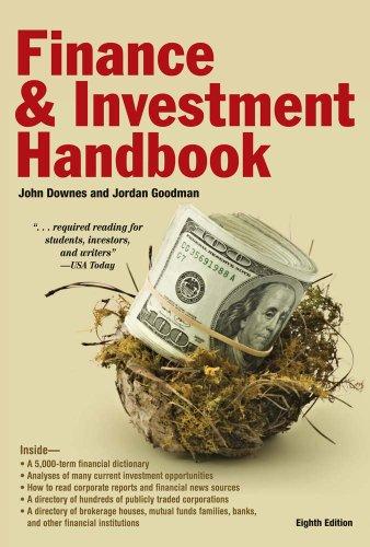 Barron's Finance and Investment Handbook 9780764162695