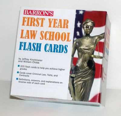 Barron's First Year Law School Flash Cards: 350 Cards with Questions & Answers 9780764196904
