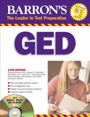 Barron's GED: High School Equivalency Exam [With CDROM] 9780764193224
