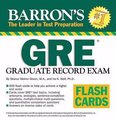 Barron's GRE Flash Cards 9780764140563