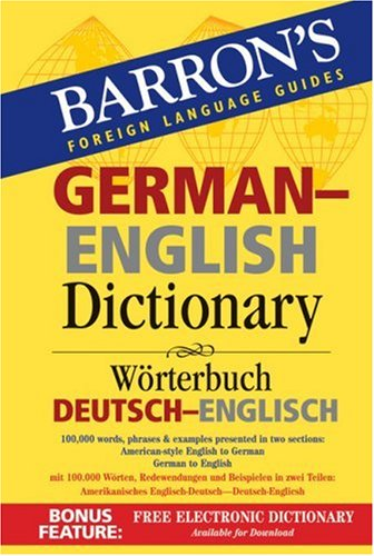 Barron's German-English Dictionary: Worterbuch Deutsch-Englisch 9780764137631