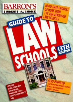 Barron's Guide to Law Schools 9780764104312