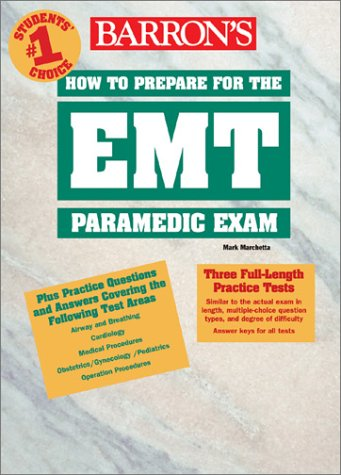 Barron's How to Prepare for the EMT Paramedic Exam 9780764122293