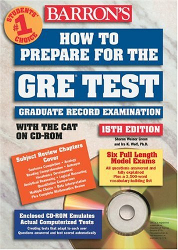 Barron's New GRE 2nd Edition 2011 Flash Cards